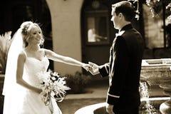 Couples de nouveaux mariés Photos stock