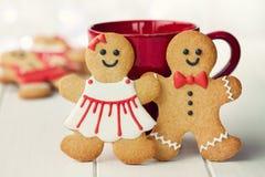 Couples de pain d'épice Images libres de droits