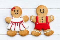 Couples de pain d'épice Photos libres de droits