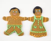 Couples de pain d'épice. Photographie stock libre de droits