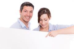 Couples de panneau occasionnels Photographie stock