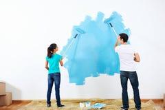 Couples de peinture image libre de droits