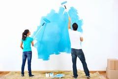 Couples de peinture photo libre de droits