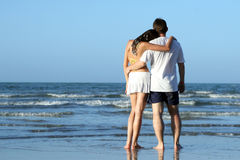 couples de plage Photo libre de droits