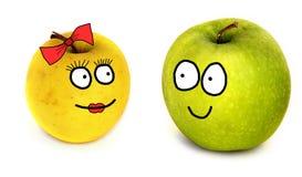 Couples de pommes Images libres de droits