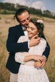 Couples de portrait, nature d'amour de tendresse Images libres de droits