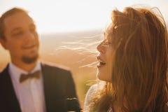 Couples de portrait, nature d'amour de tendresse Images stock