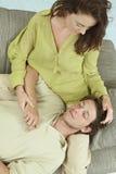 Couples de repos Photographie stock