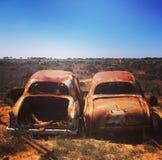 Couples de rouillement de voiture photographie stock