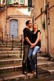 Couples de rue de l'Europe Image stock