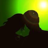 Couples de silhouette Photographie stock