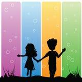 Couples de silhouettes Photo stock