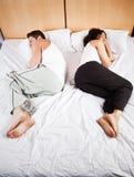 Couples de sommeil Photo libre de droits