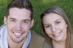 Couples de sourire Image libre de droits