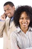 Couples de sourire d'affaires Image libre de droits