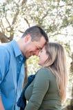Couples de sourire dans l'amour Image stock