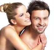 Couples de sourire heureux Photo stock