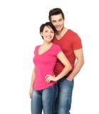 Couples de sourire heureux restant ensemble Photos libres de droits