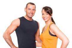 Couples de sport Images libres de droits