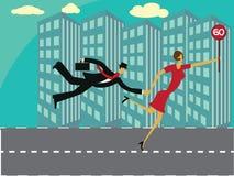 Couples de stratégie commerciale Images stock