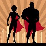 Couples 4 de super héros Images libres de droits