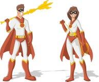 Couples de super héros Images stock