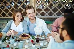 Couples de thanksgiving Photographie stock