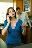 Couples de téléphone Photographie stock