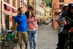 Couples de touriste Photographie stock