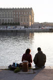 Couples de touristes Images stock
