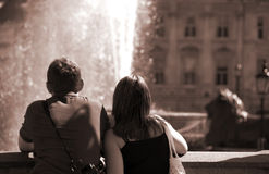 Couples de touristes Photo libre de droits