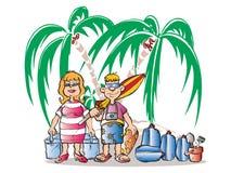Couples de vacances illustration stock