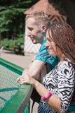 Couples de verticale de plan rapproché en stationnement Image libre de droits