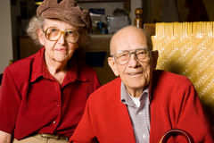 Couples de vieillard Images libres de droits