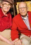 Couples de vieillard Photos stock