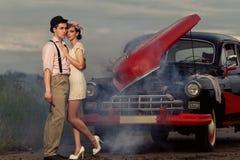Couples de vintage. images libres de droits