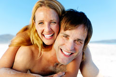 Couples de visage de Sandy Image stock
