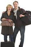 Couples des aînés prêts pour le départ Photographie stock