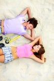 Couples des années de l'adolescence photo libre de droits