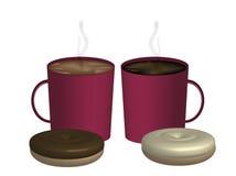 Couples des cafés Image libre de droits