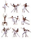 Couples des danseurs classiques modernes photo libre de droits