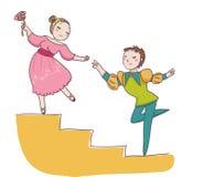 Couples des danseurs de ballet Photo libre de droits