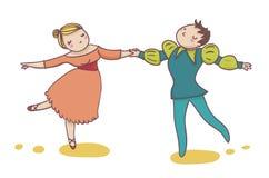 Couples des danseurs de ballet Photos stock