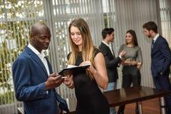 Couples des gens d'affaires de planification Image libre de droits