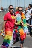 Couples des hommes, fierté homosexuelle 2011, Genève, Suisse Images libres de droits