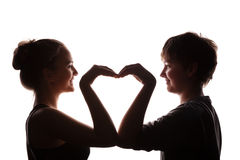 Couples des jeunes dans l'amour Photos stock