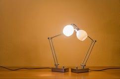 Couples des lampes allumées Photographie stock