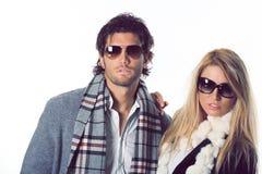 Couples des modèles de mode Image libre de droits
