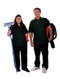 Couples des nettoyeurs Photographie stock libre de droits