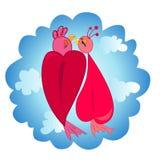 Couples des oiseaux dans l'illustration d'amour Photo stock